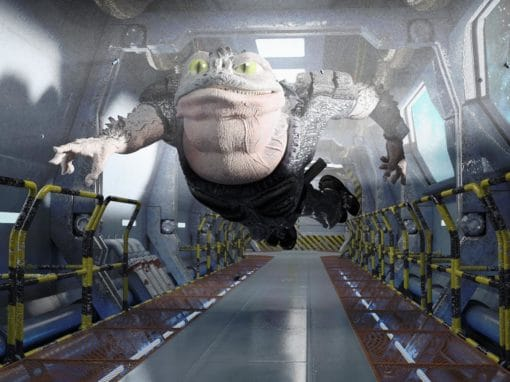 Sci-fi 3D character